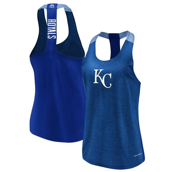 73f54dc1a60 Majestic Women's Kansas City Royals Desire More Training Tank Top - Main  Container Image 1