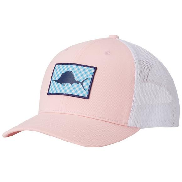 Columbia Sportswear Men s PFG Snapback Pink Ball Cap - Main Container Image  1 0aefc3aeab5