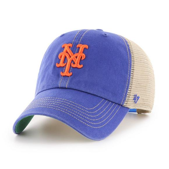 88554b87b51  47 Brand New York Mets Trawler Clean Up Adjustable Hat - Main Container  Image 1.