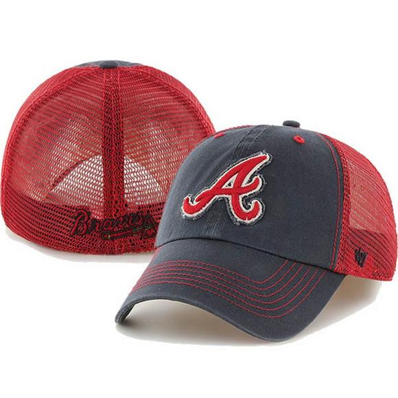 eb880cd62871e  47 Brand Atlanta Braves Taylor Closer Stretch Fit Hat - Main Container  Image 1.
