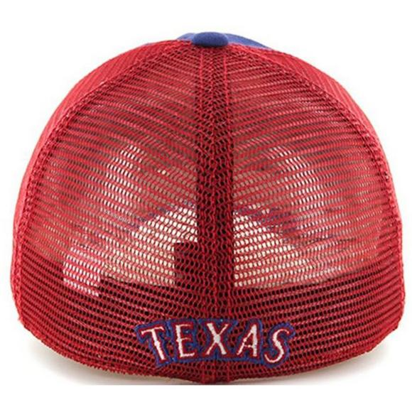 ab099551c67  47 Brand Texas Rangers Taylor Closer Stretch Fit Hat - Main Container  Image 2.