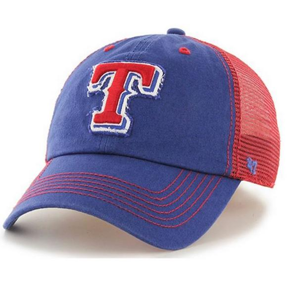 288a751a5f54a  47 Brand Texas Rangers Taylor Closer Stretch Fit Hat - Main Container  Image 1.