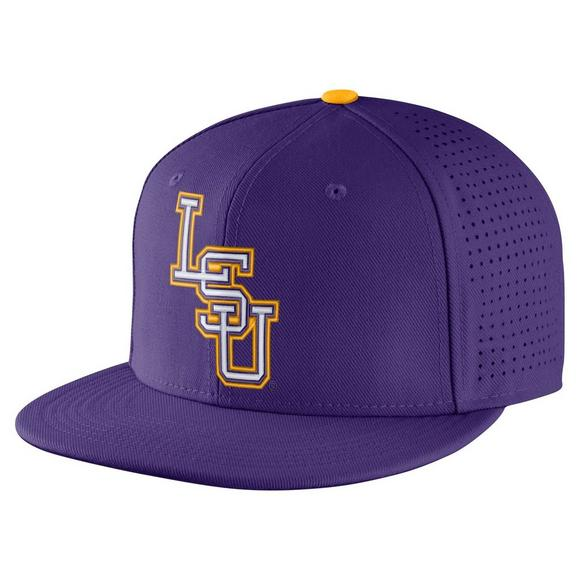 6a0a2dc0cf8 ... flatbill true performance adjustable hat ef249 a99bf  ebay nike lsu  tigers aerobill fitted baseball cap main container image 1 a60e2 da9ff