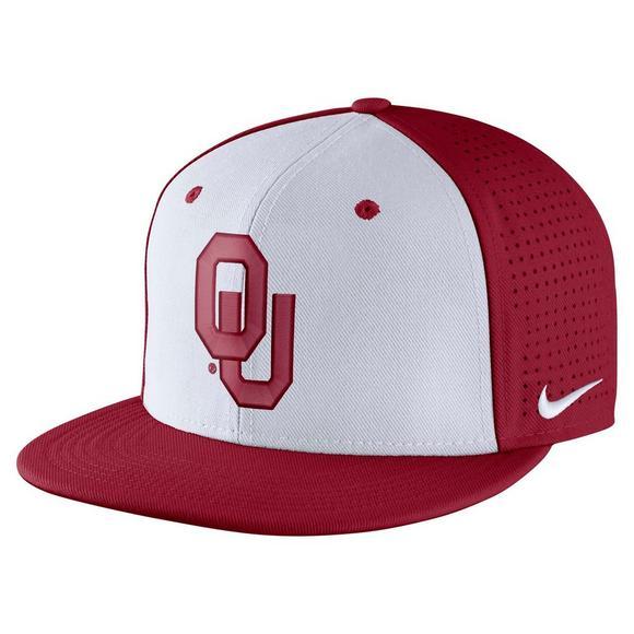 e0952ce5677 Nike Oklahoma Sooners Aerobill Fitted Baseball Cap - Main Container Image 1