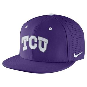5f1a6661deb Nike TCU Horned Frogs Aerobill Fitted Baseball Cap