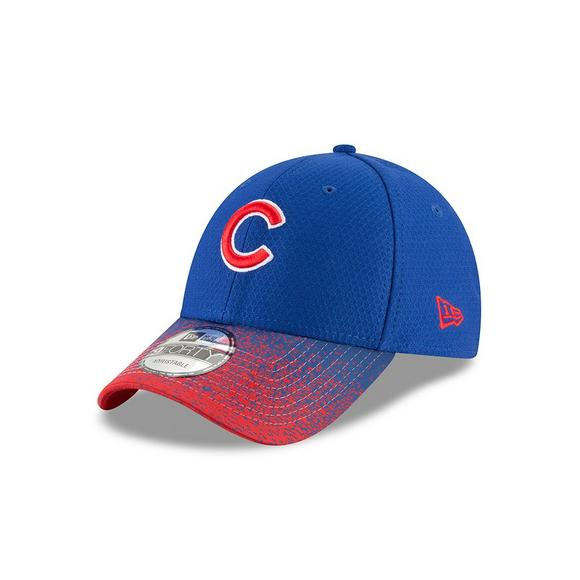 New Era Chicago Cubs 9FORTY Visor Blur Adjustable Hat - Main Container  Image 1 a0f7d3ee663