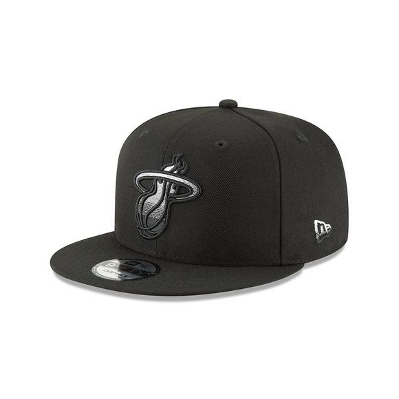 size 40 d22ee c5c7e New Era Miami Heat Faded Front 9FIFTY Snapback Hat - Main Container Image 1