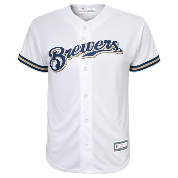 designer fashion 254be 8784c Gen 2 Youth Milwaukee Brewers Eric Thames Home Replica ...