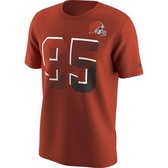 lowest price 012c4 6d3d9 Nike Men's Cleveland Browns Myles Garrett Prism Name ...