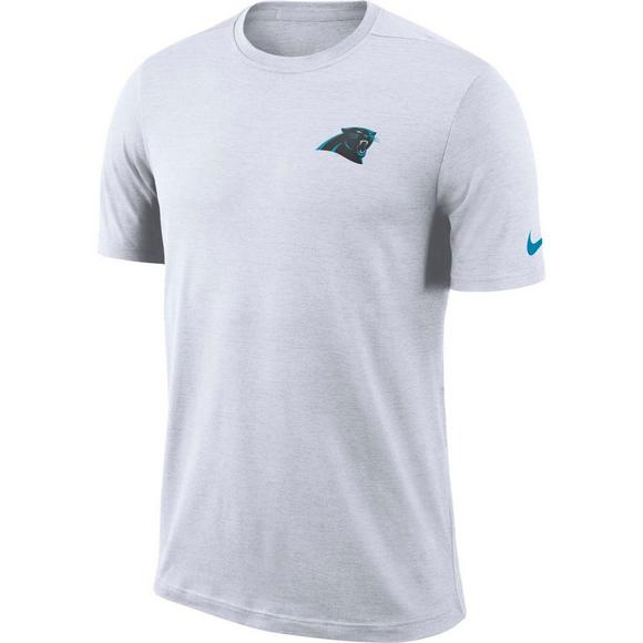 Nike Men s Carolina Panthers Dri-Fit Coach Short Sleeve T-Shirt - Main  Container c0d2d0cb7
