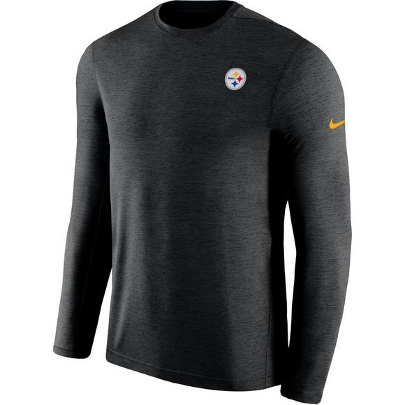866b6d047 Nike Men s Pittsburgh Steelers Coach Dri-Fit Long Sleeve T-Shirt - Main  Container