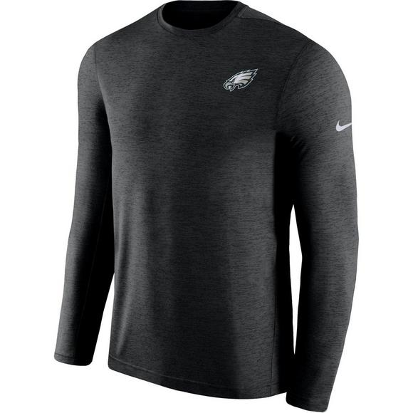 b9340b03261 Nike Men s Philadelphia Eagles Dri-Fit Long-Sleeve Coach Crew-Neck T ...