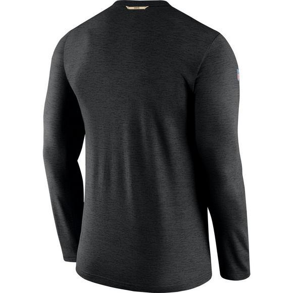 Nike Men s New Orleans Saints Coach Dri-Fit Long Sleeve T-Shirt - Main b11e5ecc8