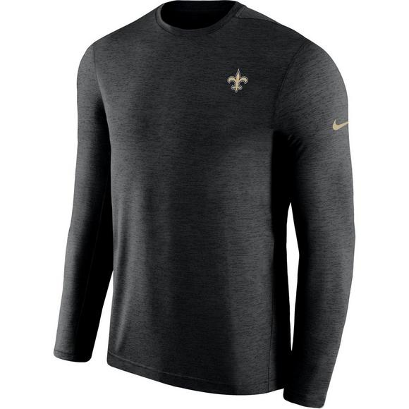 new product e5219 717c8 Nike Men's New Orleans Saints Coach Dri-Fit Long Sleeve T ...