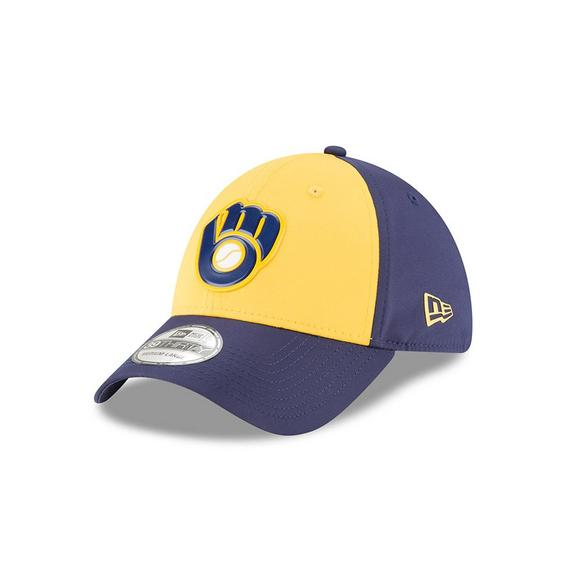 check out 96843 2e259 New Era Milwaukee Brewers 39THIRTY On Field Batting Practice Stretchfit Hat  - Main Container Image 1