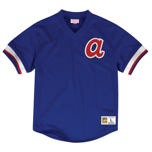 aefea1a30 Mitchell   Ness Men s Atlanta Braves Classic V-Neck Jersey - Main Container  ...