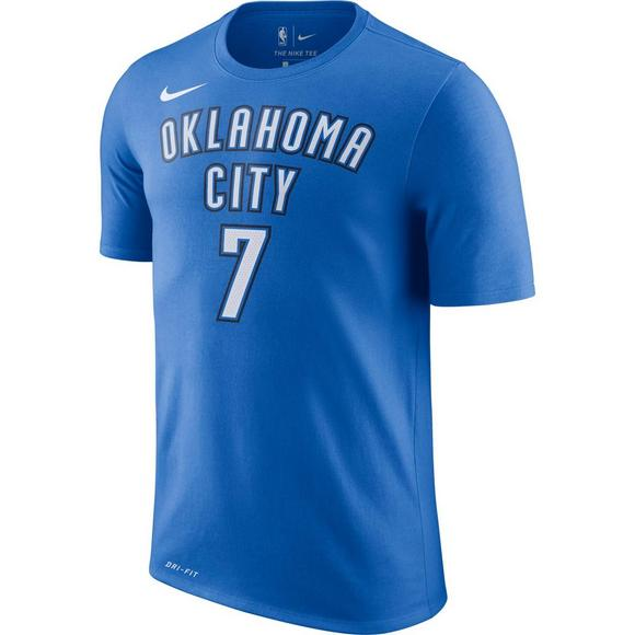 7c3f5975 Nike Men's Oklahoma City Thunder Carmelo Anthony Name & Number T-Shirt -  Hibbett US