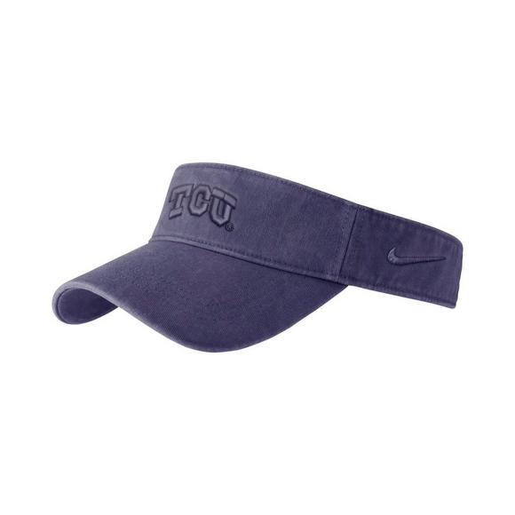 Nike TCU Horned Frogs Pigment Wash Visor Hat - Main Container Image 1 b394bf48f8c