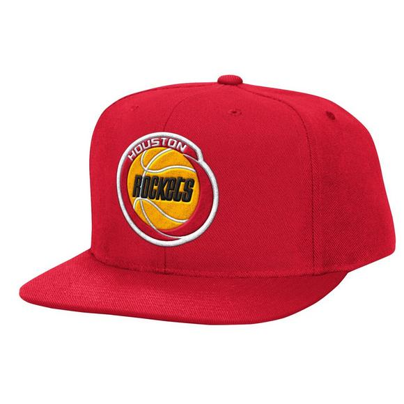 best sneakers a7fa8 43c78 Mitchell   Ness Houston Rockets HWC Wool Solid Snapback Hat - Main  Container Image 1