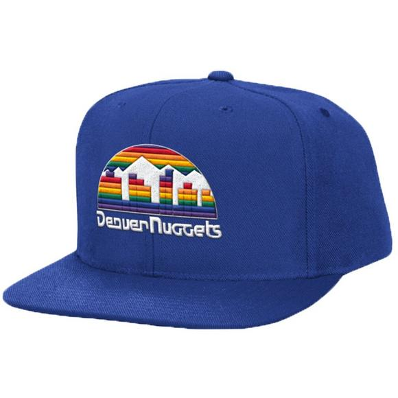 72edecea259 Mitchell   Ness Denver Nuggets Hardwood Classics Solid Wool Snapback - Main  Container Image 1