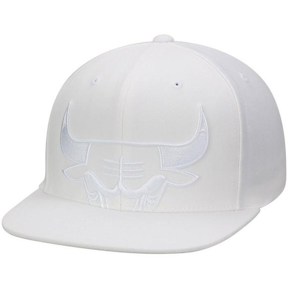36647adb037 Mitchell   Ness Chicago Bulls Cropped XL Logo Snapback Hat - Main Container  Image 1