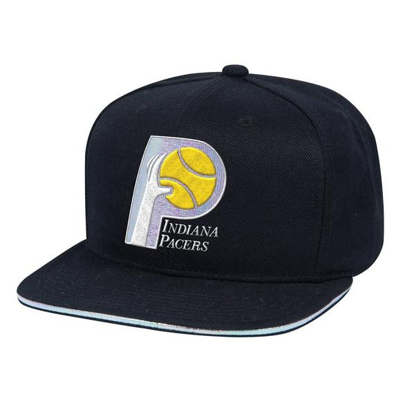 faca675c5c021 Mitchell   Ness Indiana Pacers Dark Hologram Snapback Hat - Main Container  Image 1