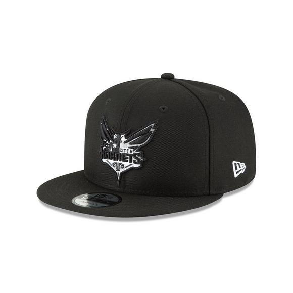 pretty nice d9576 0659d New Era Charlotte Hornets Flag Fill 9FIFTY Snapback Hat - Main Container  Image 1