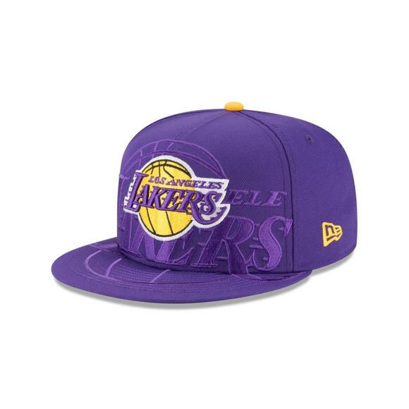 best service 6a0ae 1cb7f New Era Los Angeles Lakers Logo Spill 9FIFTY Snapback Hat - Main Container  Image 1