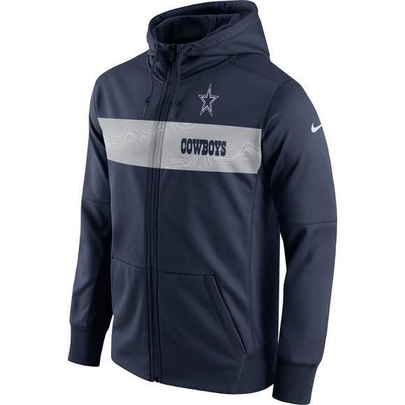 new style 86570 65db8 Nike Youth Men's Dallas Cowboys Therma-Fit Full-Zip Hoody ...