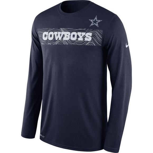 e51268770 Nike Men's Dallas Cowboys Sideline Long Sleeve T-Shirt - Main Container  Image 1