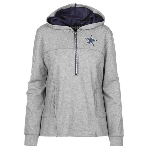 d03d4141118 Dallas Cowboys Merch Women's Portia French Terry Half-Zip Pullover Hoody -  Main Container Image