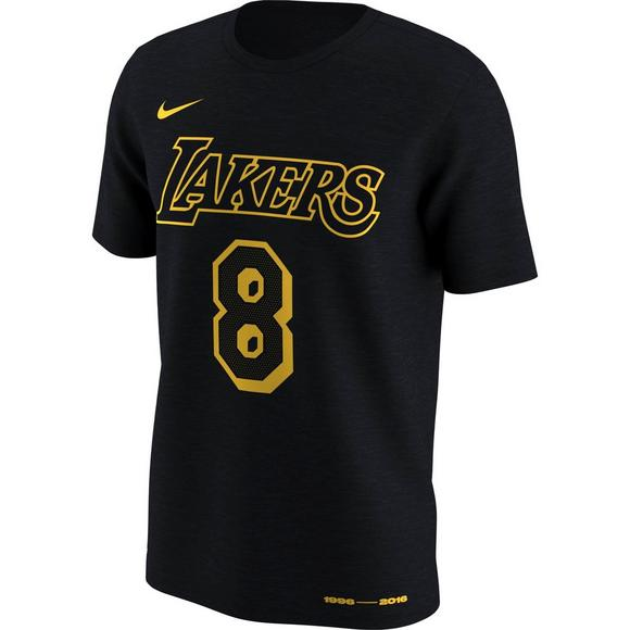 size 40 b4865 ee51e Nike Men's LA Lakers Kobe Bryant No.8 and No.24 Name and Number T-Shirt