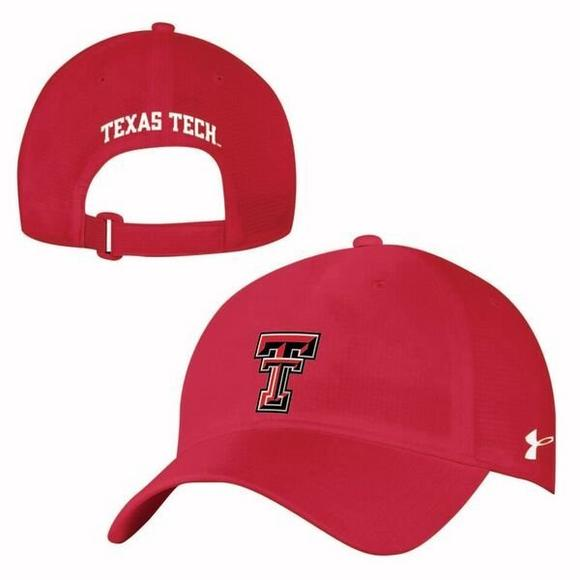 timeless design dab25 eed74 ... release date under armour texas tech red raiders coolswitch armour vent  adjustable hat main container image