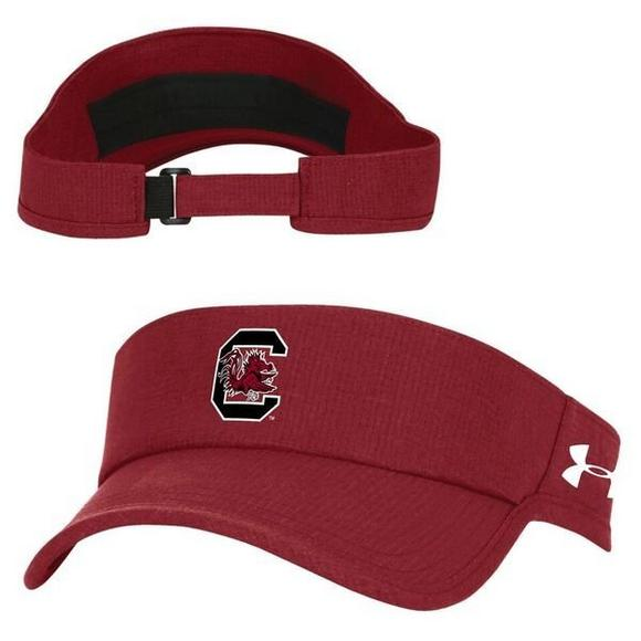 317e5760ecb Under Armour South Carolina Gamecocks Air Vent Visor Hat - Main Container  Image 1