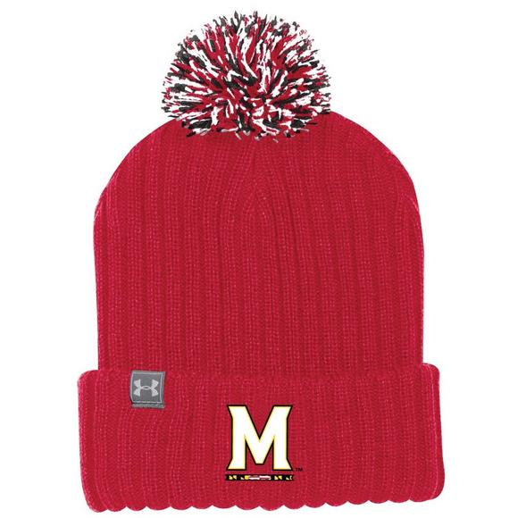 Under Armour Maryland Terrapins Pom Knit Beanie - Main Container Image 1 165631314eb