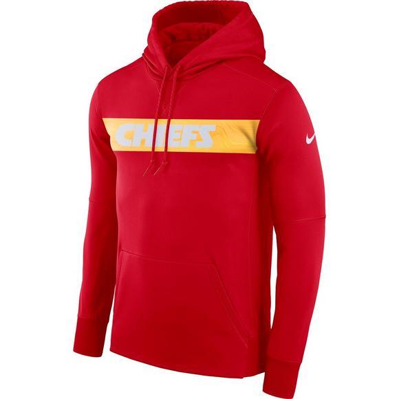 online retailer 2f27c 1650a Nike Men's Kansas City Chiefs Therma-Fit Fleece Hoodie ...
