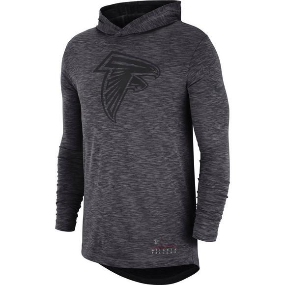 024821e9 Nike Men's Atlanta Falcons Dri-Fit Slub Hoodie T-Shirt