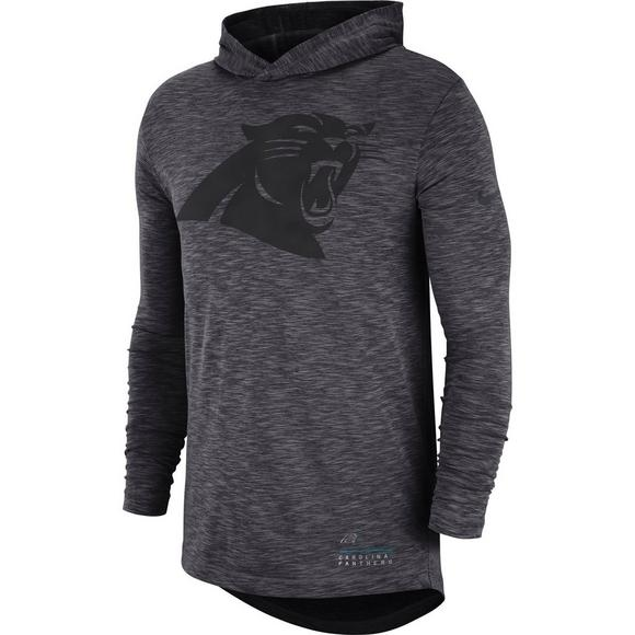 pick up 31b19 a8cad Nike Men's Carolina Panthers Dri-Fit Slub Hoodie T-Shirt
