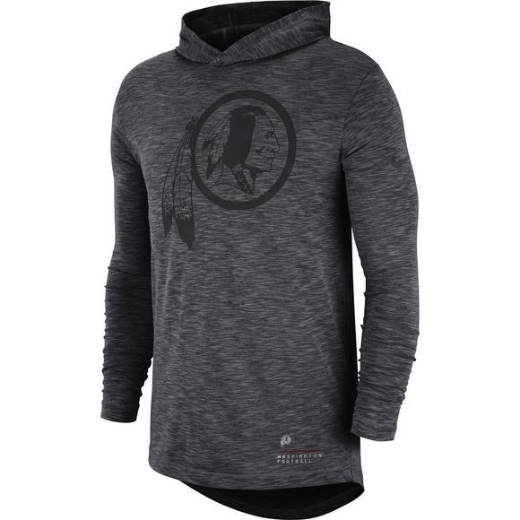 Nike Men's Washington Redskins Dri Fit Slub Hoodie T Shirt Hibbett US  hot sale