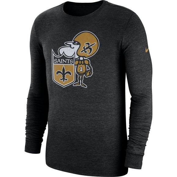huge discount f9a50 0ffe0 Nike Men's New Orleans Saints Historic Crackle Long Sleeve T-Shirt