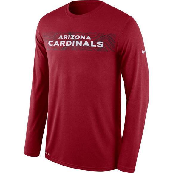 54a030ec Nike Men's Arizona Cardinals Dri-Fit Legend Seismic Long Sleeve T-Shirt
