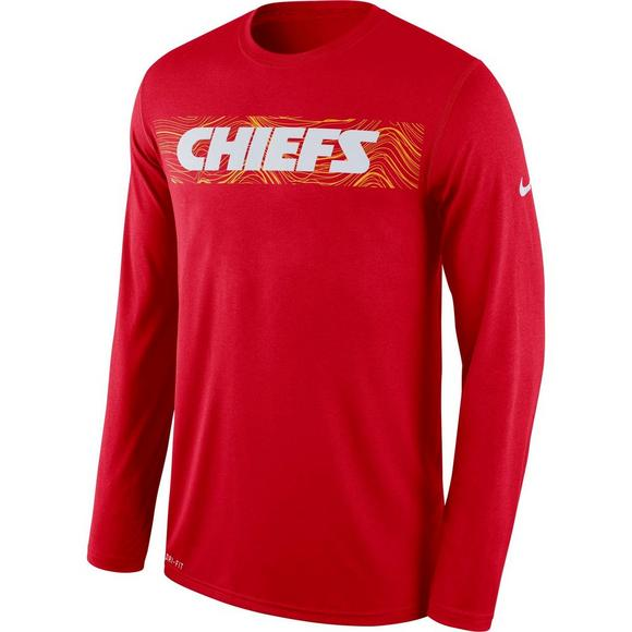 710e93ff Nike Men's Kansas City Chiefs Dri-Fit Legend Seismic Long Sleeve T-Shirt -