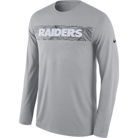 a8c02f9c4 Nike Men's Oakland Raiders Dri-Fit Legend Seismic Long Sleeve T-Shirt - Main