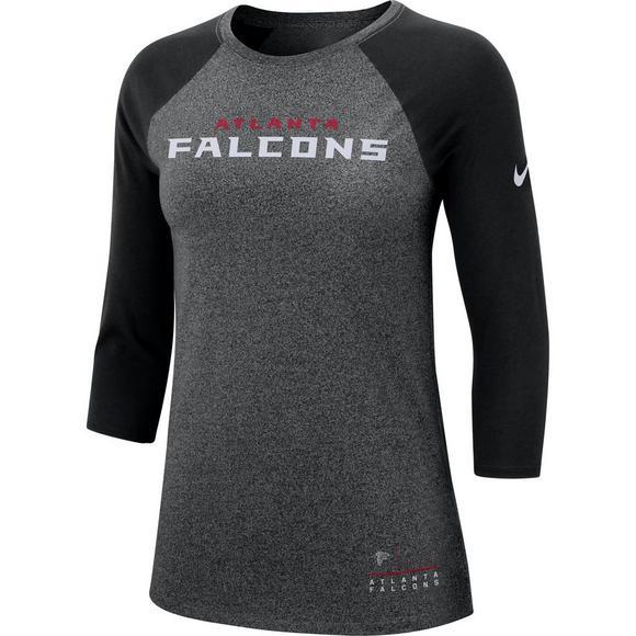 Nike Women s Atlanta Falcons Marled Raglan Shirt - Main Container Image 1 a1e83a71ed