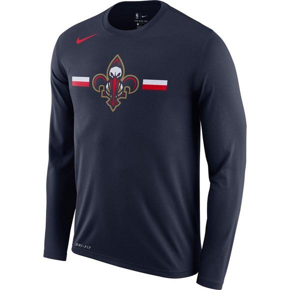 2bf292d77526 Nike Men s New Orleans Pelicans Logo Long Sleeve T-Shirt - Main Container  Image 1