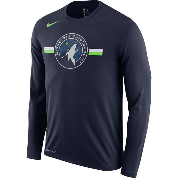 Nike Men s Minnesota Timberwolves Logo Long Sleeve T-Shirt - Main Container  Image 1 4f1682d03