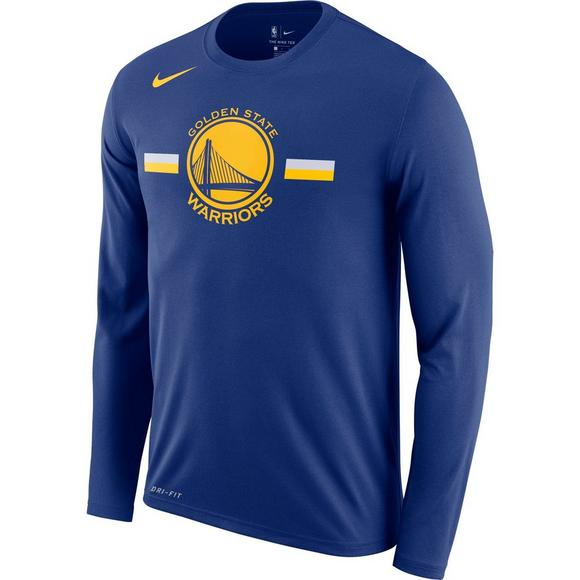 Nike Men s Golden State Warriors Logo Long Sleeve T-Shirt - Main Container  Image 1 9b011166b