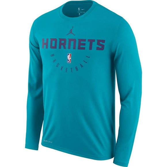 sports shoes c3f51 eb235 Nike Men s Charlotte Hornets Practice Long Sleeve T-Shirt - Main Container  Image 1