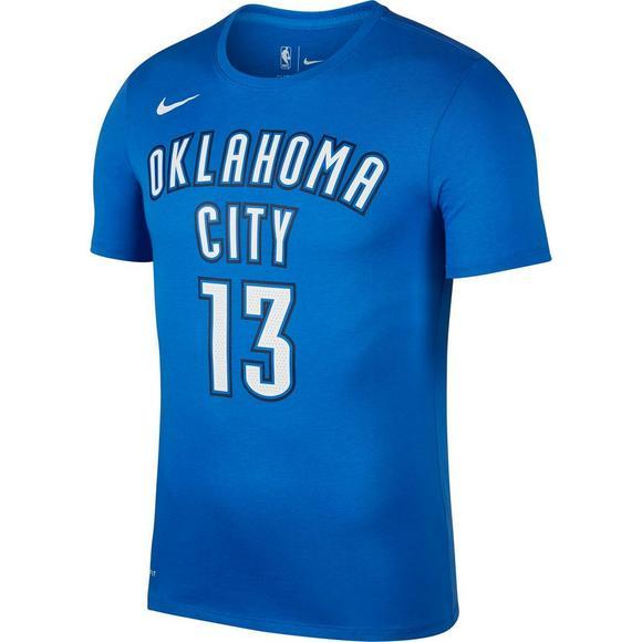 the latest 2f806 39863 Nike Men's Oklahoma City Thunder Paul George Name & Number T ...