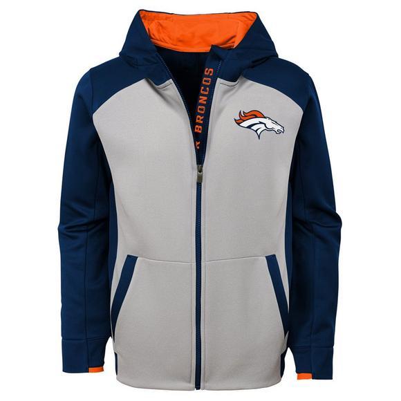 1829488d Gen 2 Youth Denver Broncos Hi-Tech Performance Full-Zip Hoodie ...